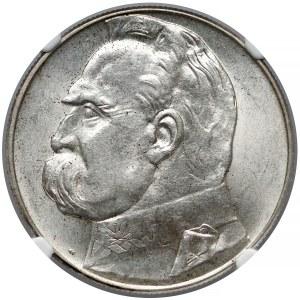 Piłsudski 10 złotych 1935 - NGC MS63