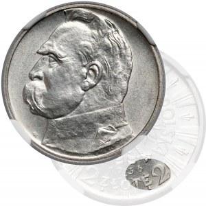 Piłsudski 2 złote 1936 - rzadki rocznik - NGC MS61
