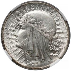Głowa Kobiety 5 złotych 1933 - NGC MS62