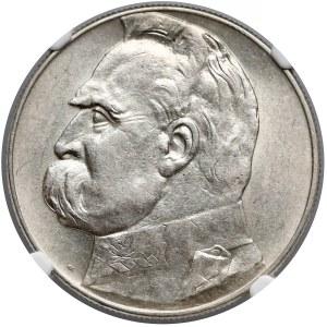 Piłsudski 10 złotych 1934 - urzędowy - NGC AU58