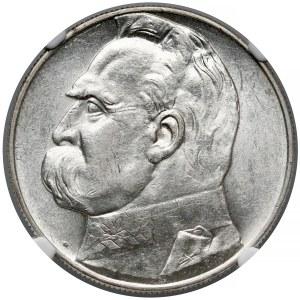 Piłsudski 10 złotych 1937 - NGC MS61