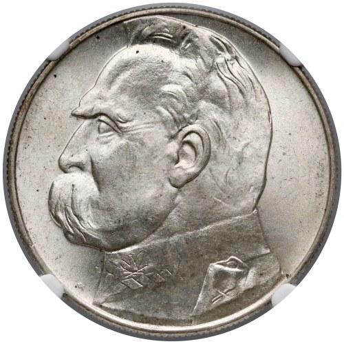 Piłsudski 10 złotych 1937 - NGC MS65 (MAX)