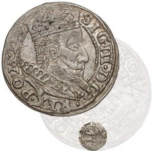 Zygmunt III Waza, Grosz Kraków 1607 - Lewart w kole - rzadki
