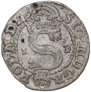 Zygmunt III Waza, Szeląg Olkusz 1591 IF - przejściowy
