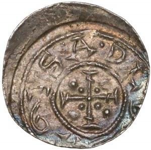 Bolesław III Krzywousty, Denar - biskup i rycerz - duży krzyż