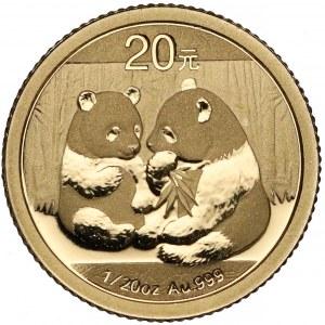 Chiny, 20 yuanów 2009 - Pandy
