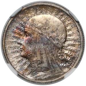 Głowa Kobiety 2 złote 1932 - NGC MS62