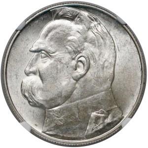 Piłsudski 10 złotych 1937 - NGC MS62