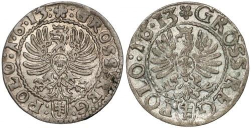 Zygmunt III Waza, Grosze Kraków 1613 - wczesny i późny (2szt)