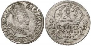 Zygmunt III Waza, Grosz Kraków 1607 i 1608 (2szt)