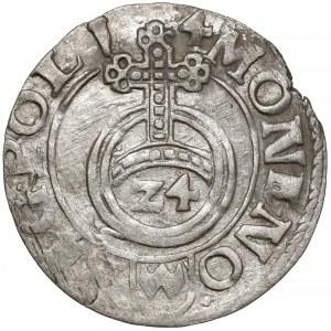 Zygmunt III Waza, Półtorak Bydgoszcz 1614 - data w otoku - b. ładny