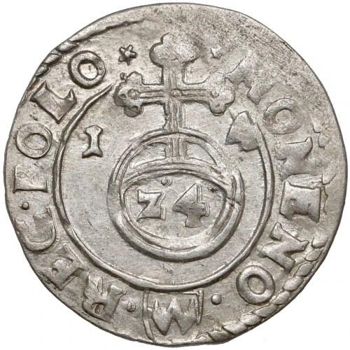 Zygmunt III Waza, Półtorak Bydgoszcz 1614 - tarcza wysoko