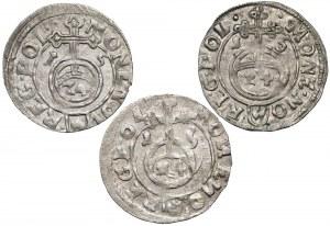 Zygmunt III Waza, Półtoraki Bydgoszcz 1615 - w tym RZADKIE (3szt)