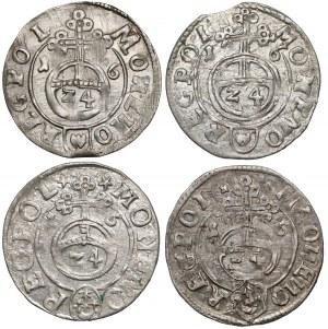 Zygmunt III Waza, Półtoraki Bydgoszcz 1616, w tym rzadki (4szt)