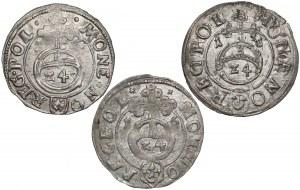 Zygmunt III Waza, Półtoraki Bydgoszcz 1616 - 3 typy - (3szt)