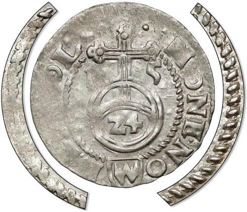 Zygmunt III Waza, Półtorak Bydgoszcz 1615 - obwódki SZNUROWE - b. rzadki