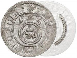 Zygmunt III Waza, Półtorak Bydgoszcz 1615 - obwódka SZNUROWA - b. rzadki