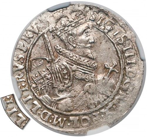 Zygmunt III Waza, Ort Bydgoszcz 1621 - LIT - NGC MS61 (R4)