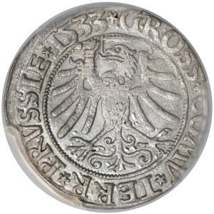 Zygmunt I Stary, Grosz Toruń 1533 - PCGS MS62
