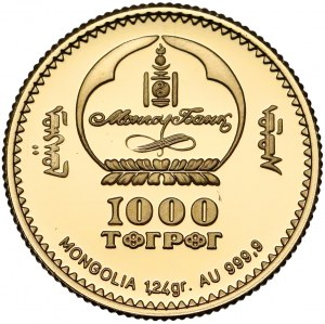 Mongolia, 1.000 tugrików 1999 - Leonardo Da Vinci