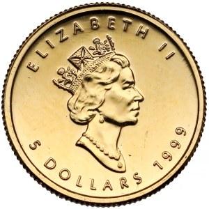 Kanada, 5 dolarów 1999 - liść klonu