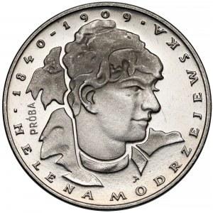 Próba NIKIEL 100 złotych 1975 Modrzejewska - głowa