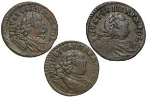 August III Sas, Szelągi Gubin 1753 (3szt)