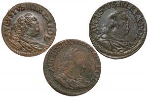 August III Sas, Grosze Gubin 1755 (3szt)