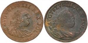 August III Sas, Grosze Grunthal i Gubin 1754 (2szt)