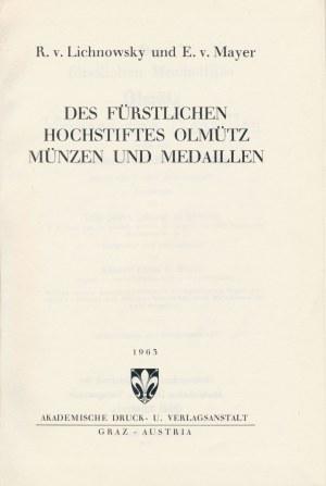 Münzen von Olmütz, Reprint 1963/1873, Lichnowsky - Mayer,