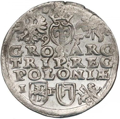 Zygmunt III Waza, Trojak Lublin 1595 - TOPÓR - 95 przy Snopku (R6)
