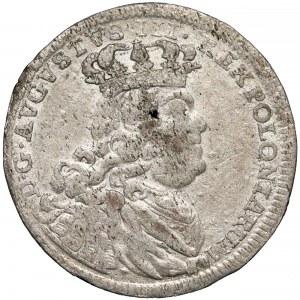 August III Sas, Szóstak Lipsk 1754 EC - wąski portret - rzadszy