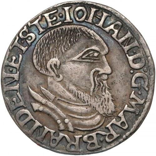 Śląsk, Ks. Krośnieńskie, Jan Kostrzyński, Trojak Kostrzyń 1544 - rzadki