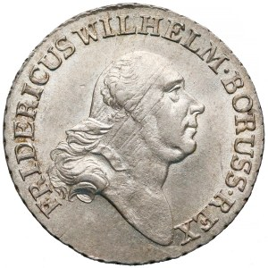 Prusy, Fryderyk Wilhelm II, 4 grosze 1796-A - piękny