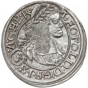 Śląsk, Leopold I, Wrocław 3 krajcary 1668 SHS - z szarfą