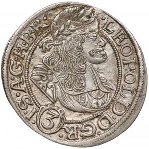 Śląsk, Leopold I, Wrocław, 3 krajcary 1669 SHS