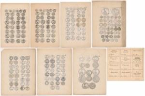 Niezatwierdzone Makiety Tablic [Skorowidz monet litewskich, Tyszkiewicz 1875] Beyer, ex Bartynowski