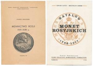 Białkowski - Mennictwo Rosji XVII-XVIII w. , Safuta - Katalog Monet Rosyjskich (2szt)