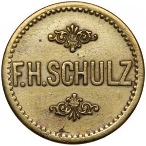 Breslau (Wrocław), F.H. Schulz, 10 Pfg - bardzo rzadkie