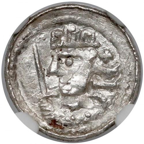 Bolesław II Śmiały, Denar królewski - piękny - NGC M64