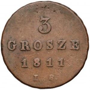 Ks. Warszawskie, 3 grosze 1811 I.S.
