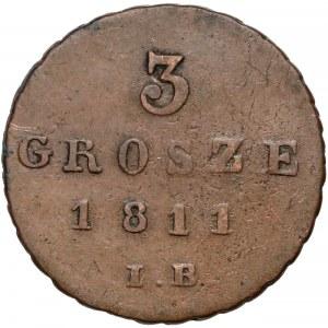 Ks. Warszawskie, 3 grosze 1811 I.B.