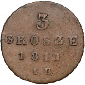Księstwo Warszawskie, 3 grosze 1811 I.B.