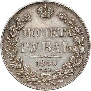 Rosja, Mikołaj I, Rubel 1843 АЧ - ogon wachlarzowaty