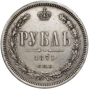 Rosja, Aleksander II, Rubel 1871 HI