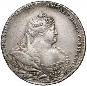 Rosja, Anna, Rubel 1740 - przebitka daty