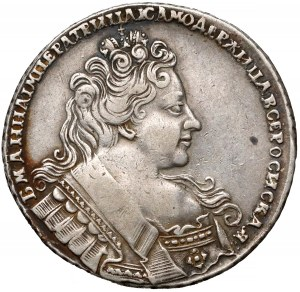 Rosja, Anna, Rubel 1732 - szeroka korona