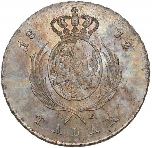 Księstwo Warszawskie, Talar 1812 IB - PIĘKNY