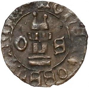Ks. Oświęcimskie, Wacław I i Jan V (1433-1457) Halerz Oświęcim