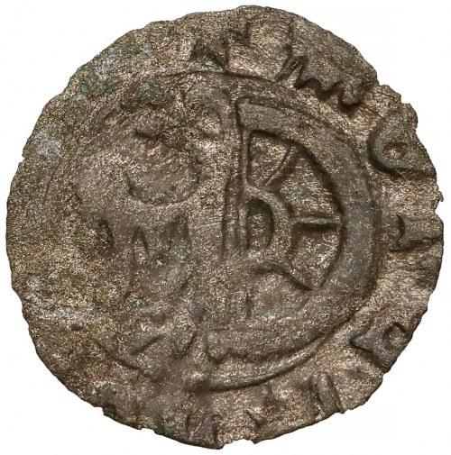 Ks. Raciborskie, Jan II Żelazny (1380-1424) Halerz Racibórz - tarcza/herb (R8)